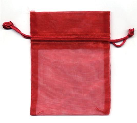 Organza Bag rot 12x9