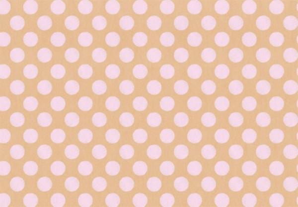 Shabby Punkte rosa 50x70