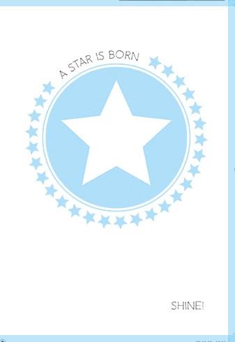 Umschlagk. A star is born -Shine blau