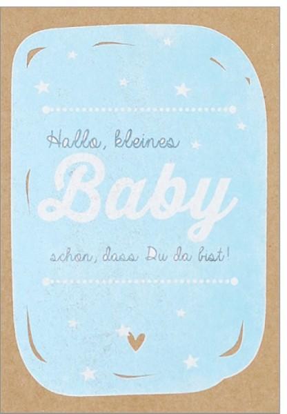 Umschlagk. pp Baby Sterne blau