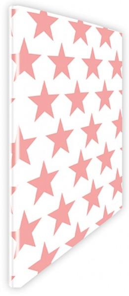 Schnellhefter Sterne pink-weiß