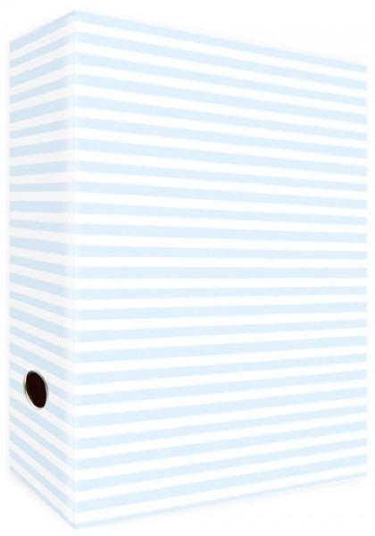 Ringordner A4 Blue Stripes & Dots