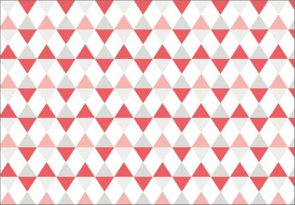 Dreiecke Pastell 50x70