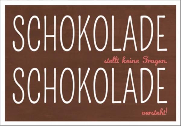 Postk. Schokolade