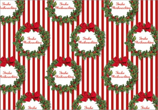 Streifen Weihnachtskranz 50x70