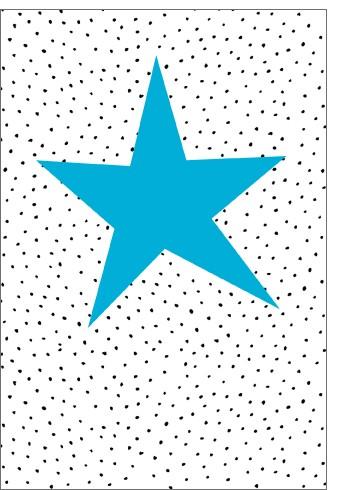 Umschlagk. NP Stern auf Punkte blau