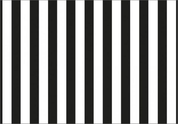 Streifen schwarz 50x70