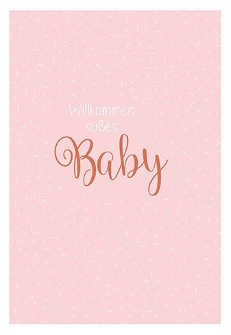 Umschlagk. Willkommen süßes Baby rosa
