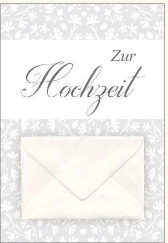Umschlagk. Zur Hochzeit mit Umschlag
