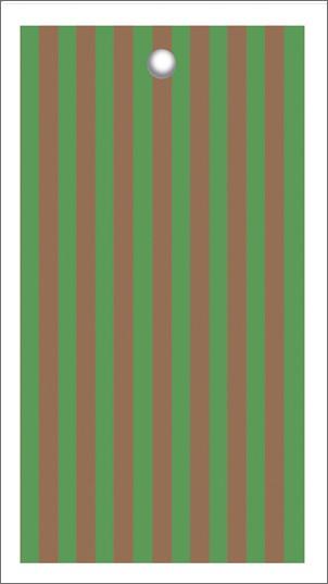 Tags Streifen grün kupfer
