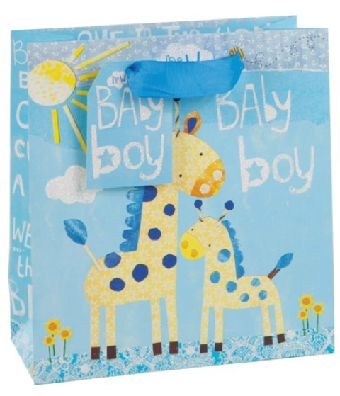 Baby blau Giraffe Bag medium