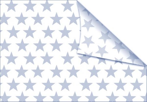 Sterne hellblau-weiß 50x70