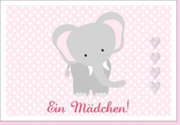 Umschlagk. Elefant - Ein Mädchen