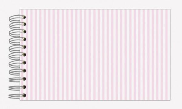 Fotoalbum 13x18 Streifen rosa