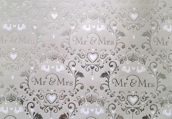 Mr.&Mrs. Hochzeit silber