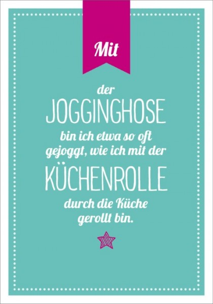 Postk. LQ Jogginghose