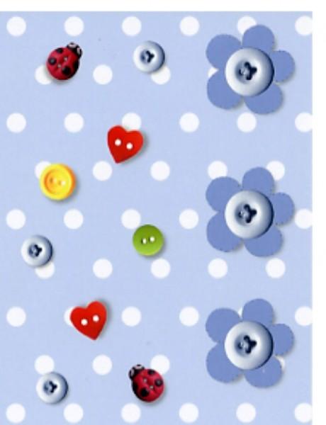 Minik. Blue Buttons