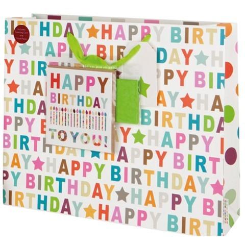 H.Birthd. Bag bunt mit Karte large