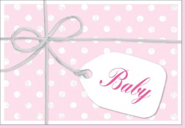 Umschlagk. Schleife Baby rosa