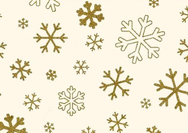 Glitter Snowflake gold