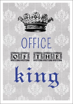 Postk. Vintage Office of the King