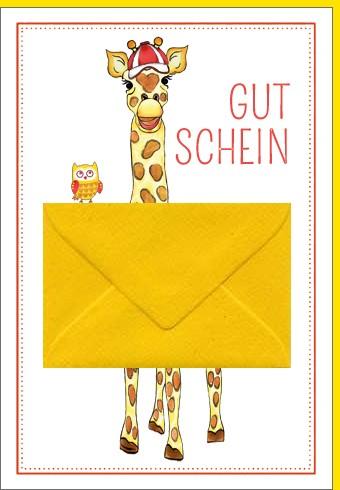 Umschlagk. Giraffe mit Umschlag
