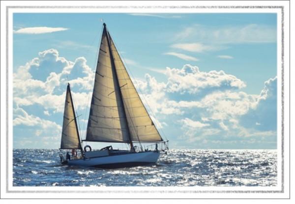 Umschlagk. LM Segelboot
