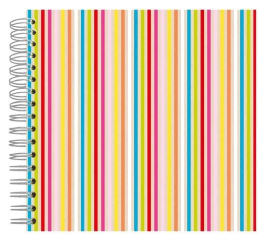Fotoalbum 24x24 Neon Color Stripes