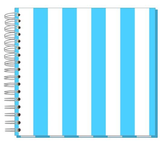 Fotoalbum 24x24 Streifen blau