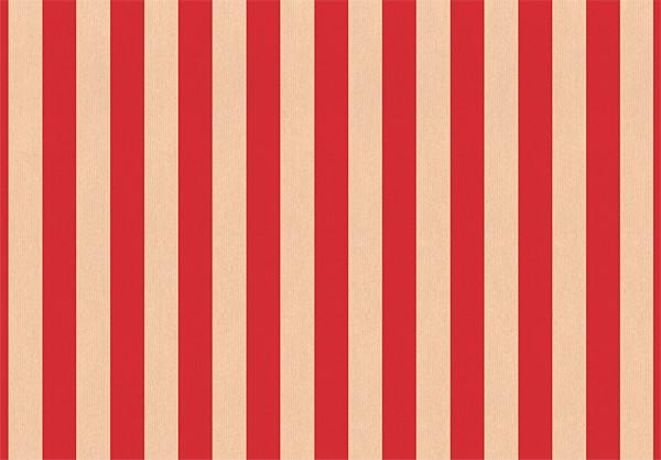Streifen kraft rot 50x70