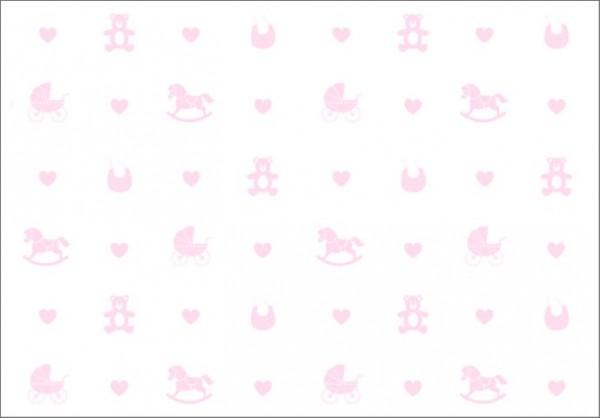 Pink Babytoys 50x70