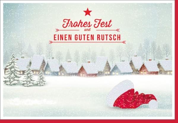 Umschlagk. Weihnachtsdorf mit Mütze