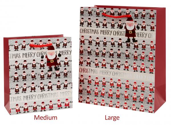 Kleine Weihnachtsmänner Bag large