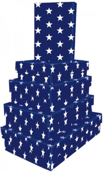 Kart. Recht. Blue Stars 5 tlg.