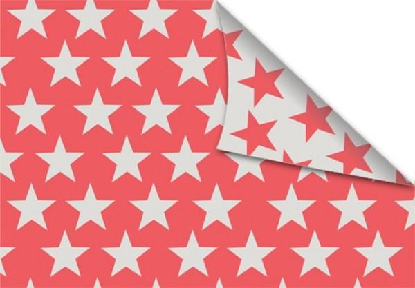Sterne beige korall 50x70