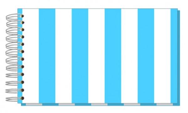 Fotoalbum 13x18 Streifen blau
