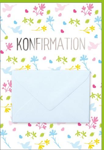 Umschlagk. Konfirmation pastell Umschlag