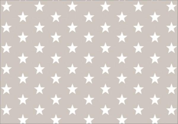 Cream Stars 50x70