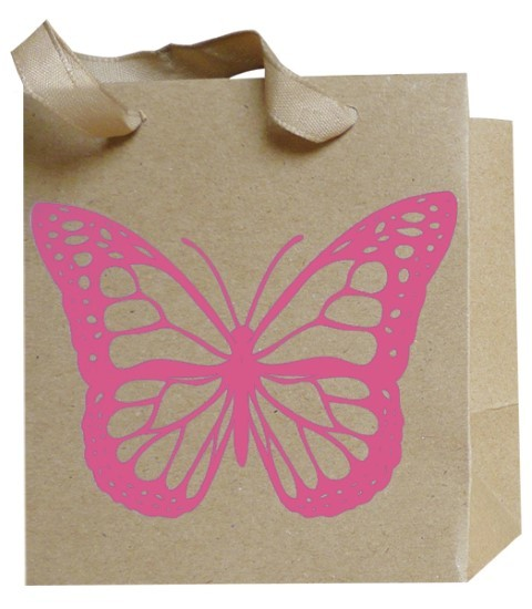 Schmetterling Bag pink 12x12x8cm