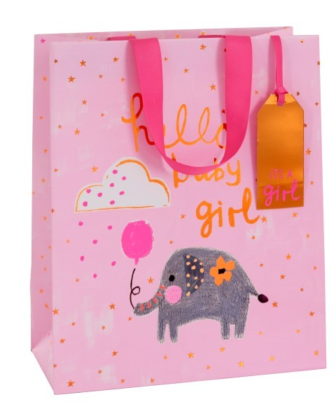 Hello Baby Girl Bag large