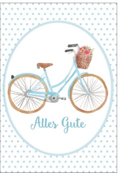 Umschlagk. Fahrrad Alles Gute