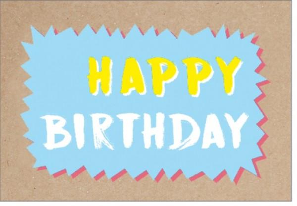 Umschlagk. pp Happy Birthday