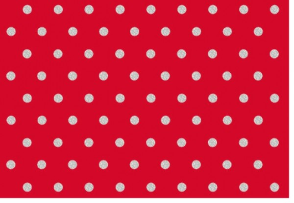 Umschlagk. Punkte Rot Silber