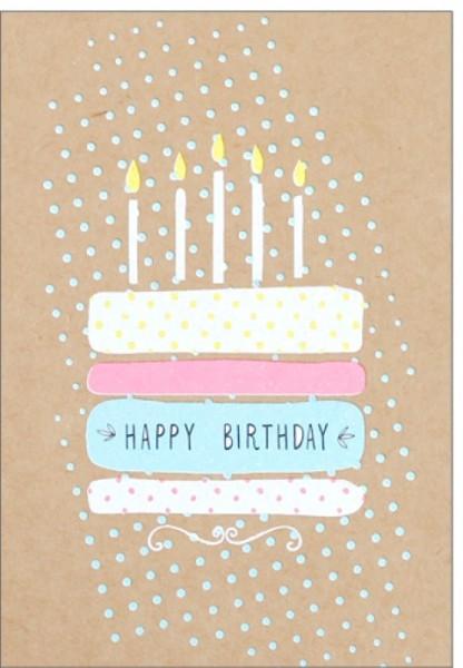 Umschlagk. pp Happy Birthday Cake