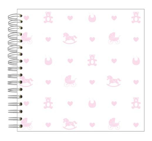 Fotoalbum 24x24 Baby Icons rosa
