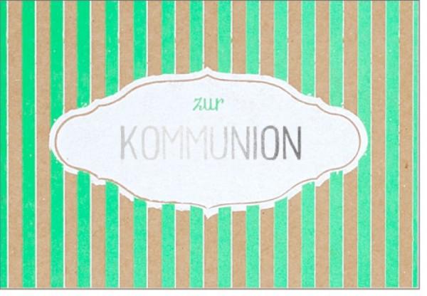 Umschlagk. pp Kommunion gestreift
