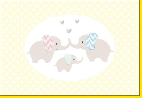 Umschlagk. Elefantenfamilie