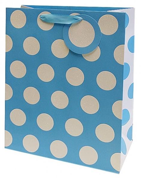 Hellblaue Punkte Bag Large