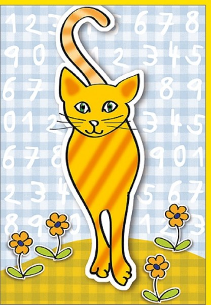 Umschlagk. Zahlen-Katze