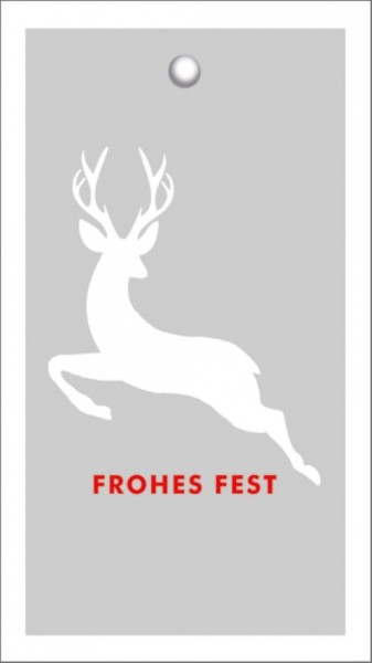 Tags Frohes Fest Hirsch grau